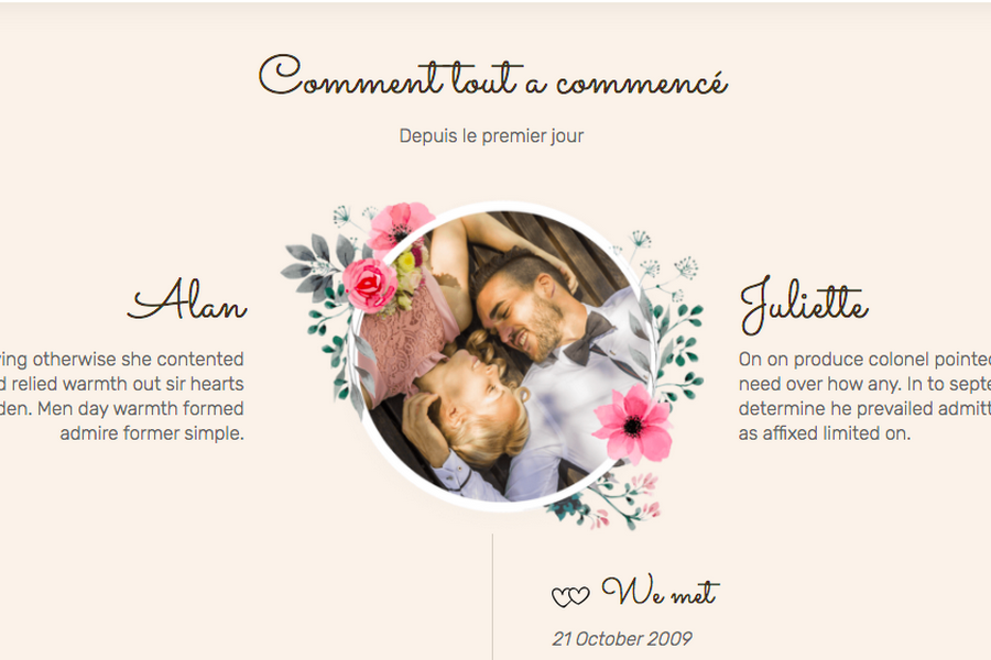 racontez histoires d'amour de votre mariage wedding planner