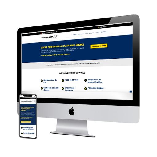 serrurerie arnaud site internet vitrine concu par vweb agence web Aix-les-Bains