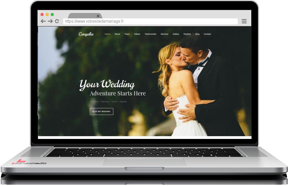exemple site internet mariage wedding planner